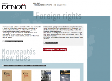 Éditions Denoël - Foreign Rights